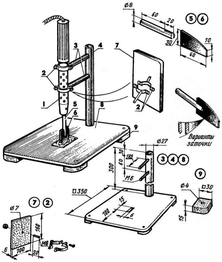 Электропаяльник в роли резака
