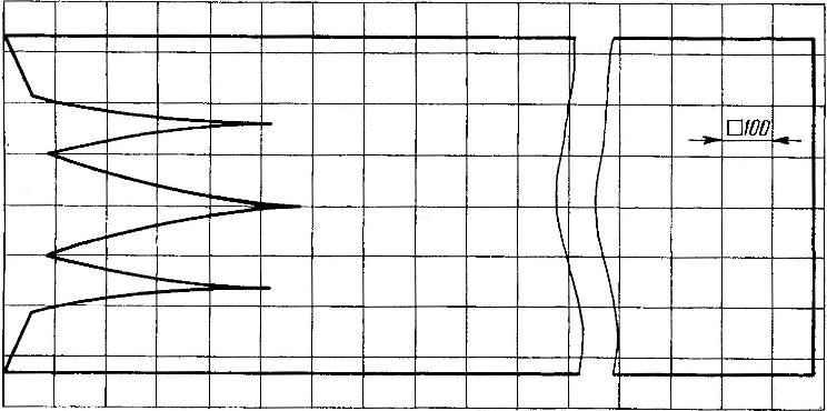 Выкройка корпуса поплавка (длина заготовки — 2100 мм)