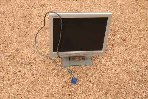 Find old monitor that you are willing to sacrifice.