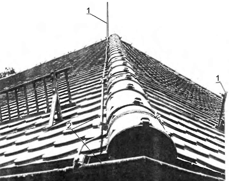 Молниезащита на крыше