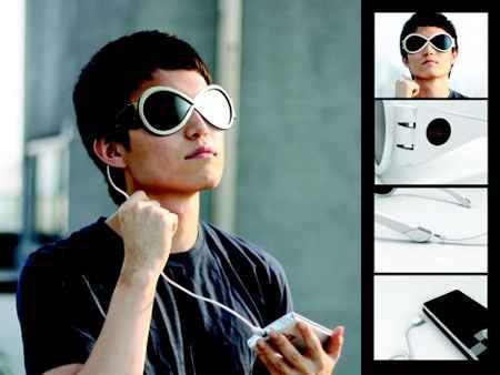 Stylish sunglasses with solar panels