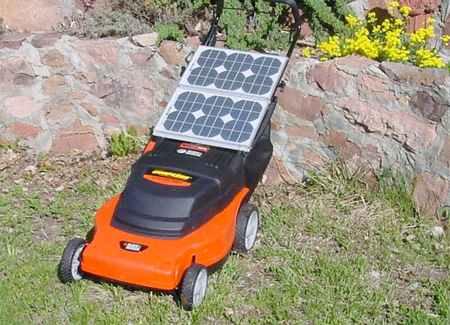 Lawnmower solar powered