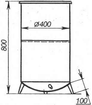 Ёмкость для холодной воды из двух баков от стиральных машин