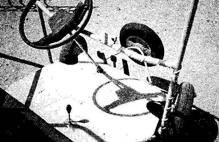 Рулевое колесо и педали управления
