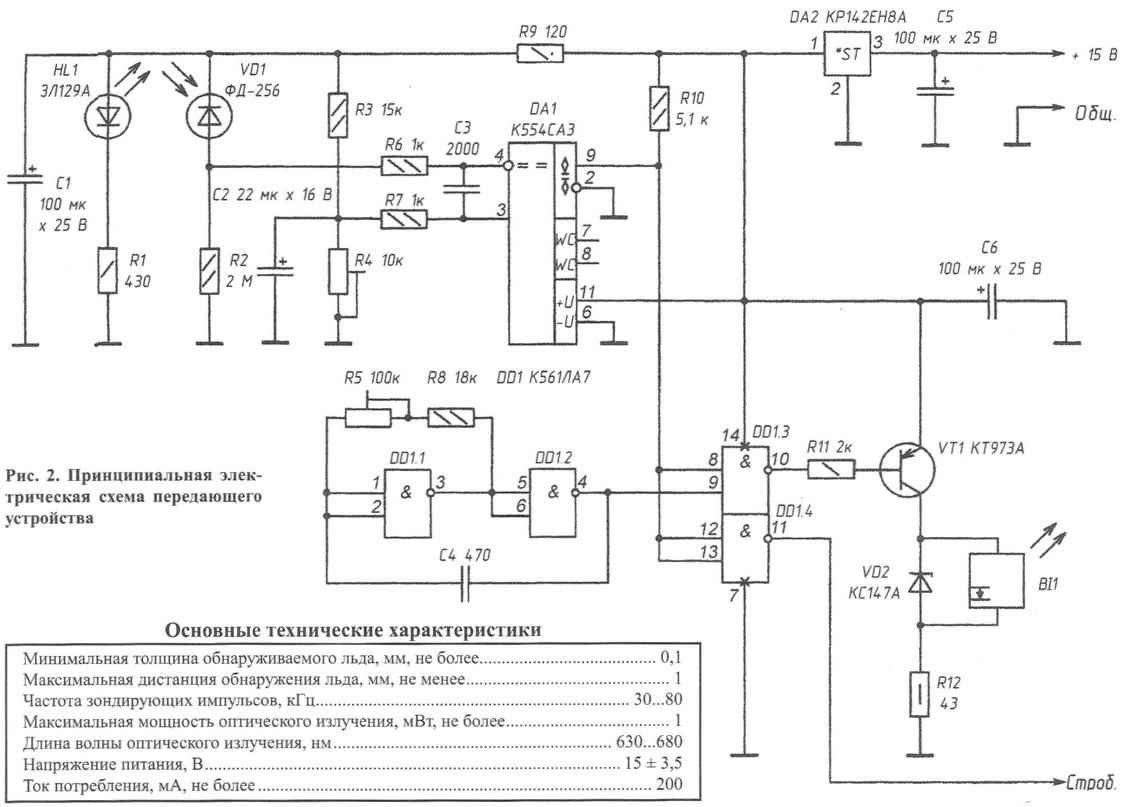 Fig. 2. A circuit diagram of a transmission device