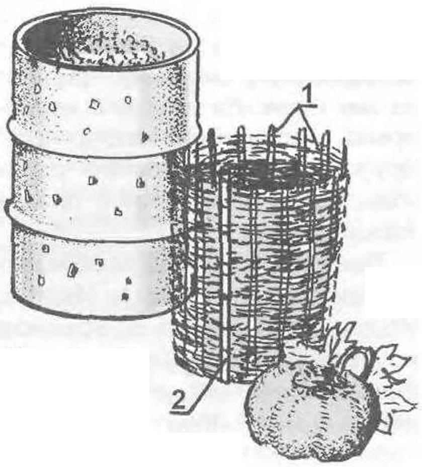 Компостная корзина-плетёнка