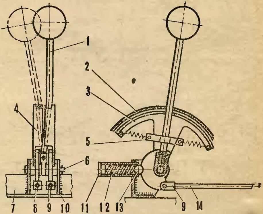 Рис. 11. Рычаг переключения передач и реверса