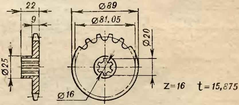 Fig. 19. Sprocket differential