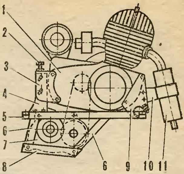 Fig. 8. The engine on the underframe