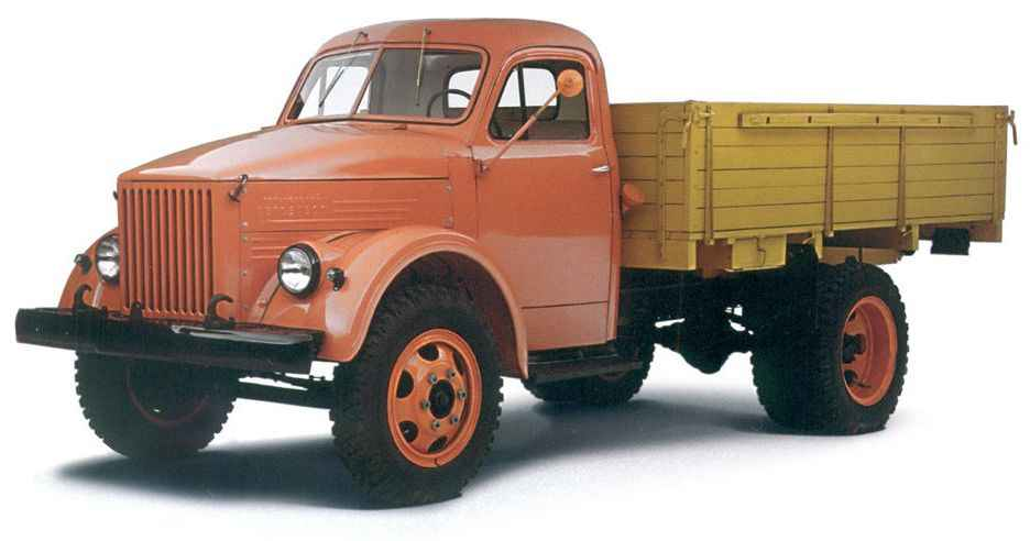 ГАЗ-51 А выпуска 1955 года. На базе этого автомобиля с 1975 года выпускались грузовики ГАЗ-52-04