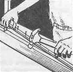 Рис. 9. Крепление изнаночных реек под сетку