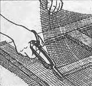 Рис. 10. Черновая обрезка сетки на собранной раме