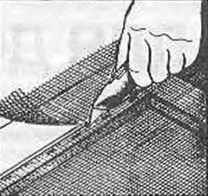 Рис. 12. Чистовая обрезка сетки в размер