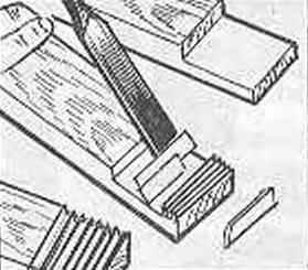 Fig. 6. Billet finger joints with a chisel