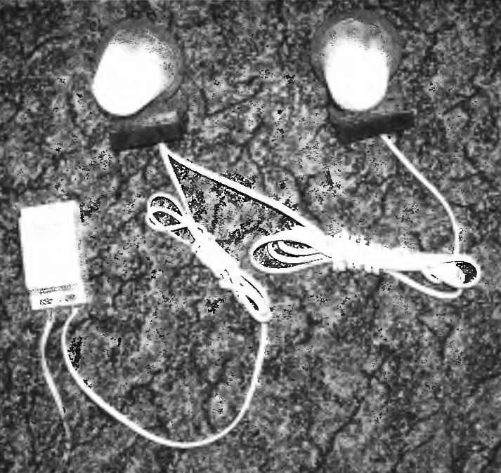 Electronic transformer with a load of two low voltage halogen lamps