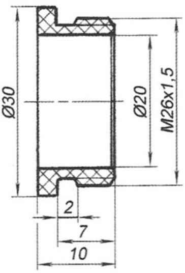 Рис. 3. Втулка токоподвода