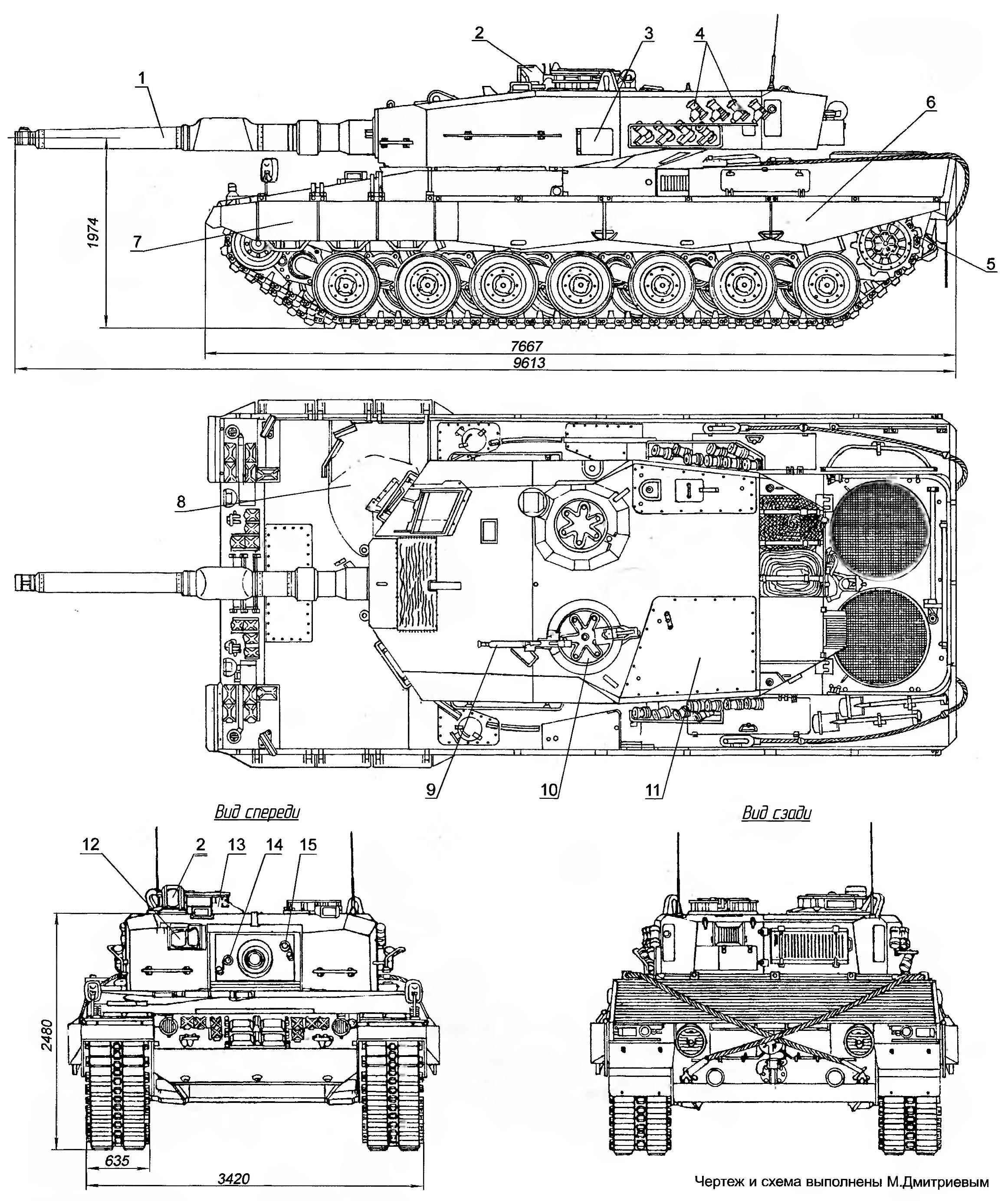 Основной боевой танк «Леопард» 2А1