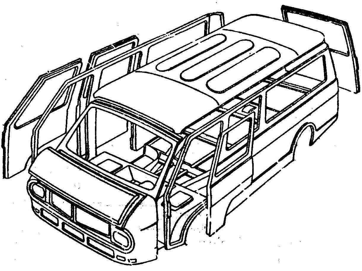 Рис. 4. Элементы кузова