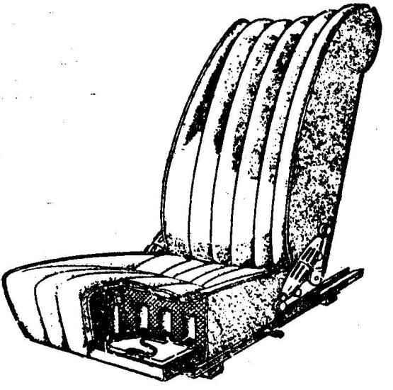 Рис. 7. Сиденье водителя