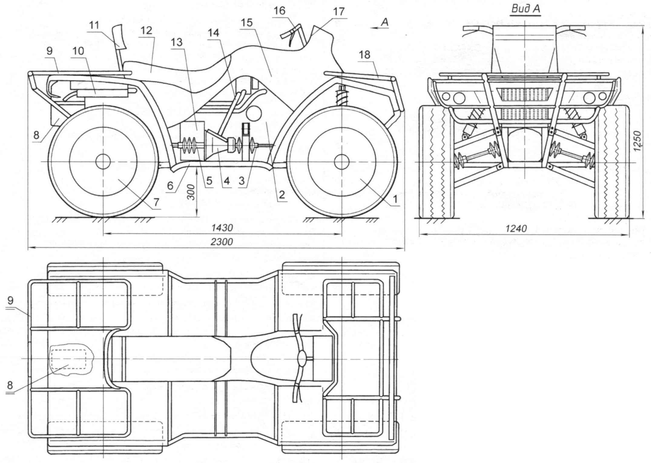 Квадроцикл-вездеход