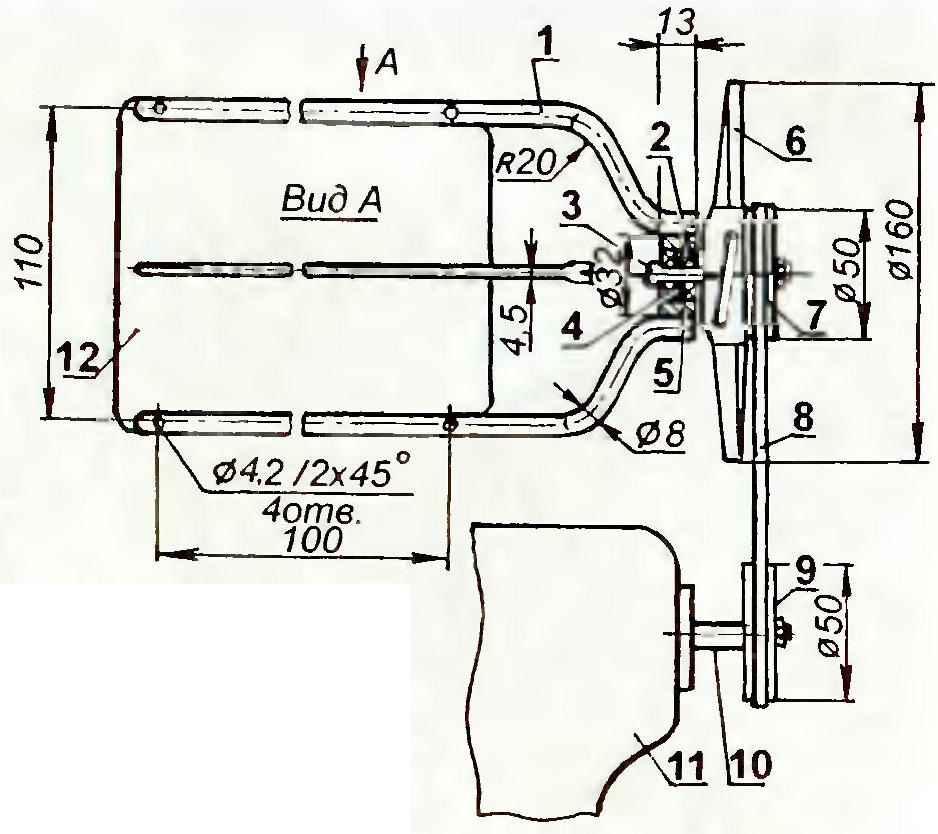 Система принудительного воздушного охлаждения цилиндра двигателя