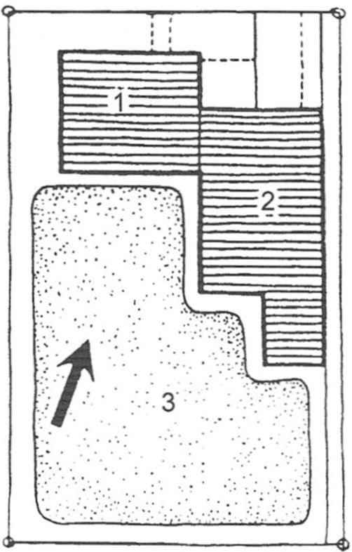 Рис. 5. Вариант планировки участка и размещения сооружений