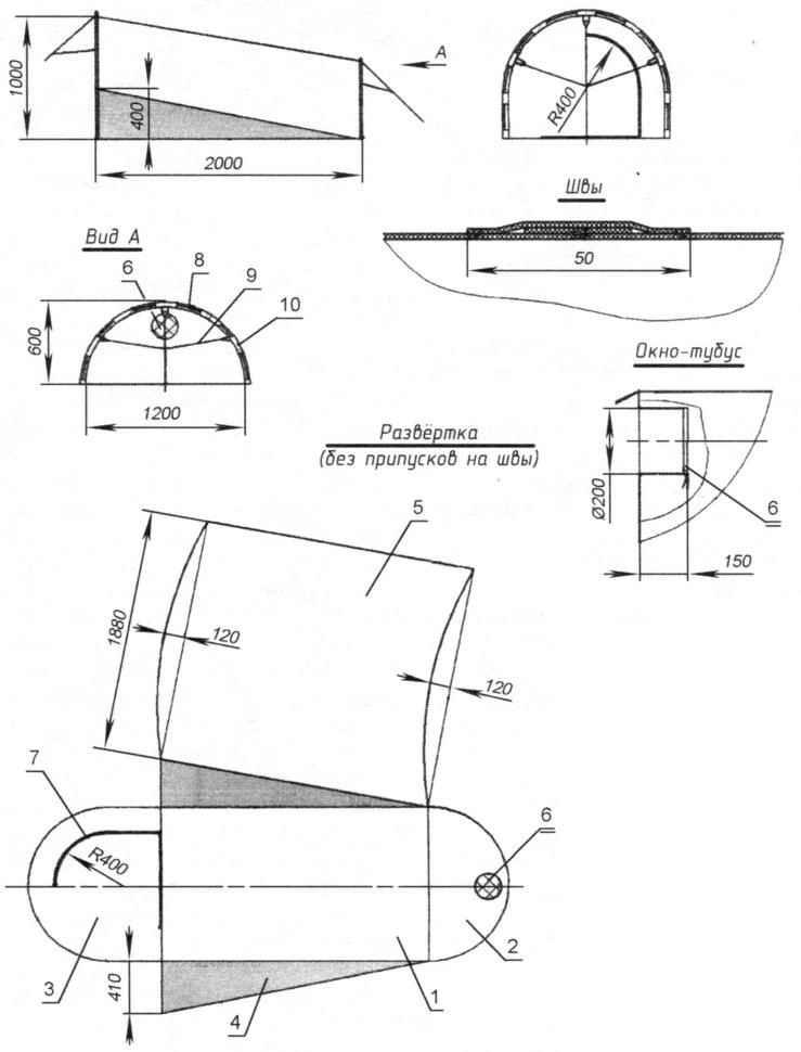 Двухместная палатка «Фургон-1»