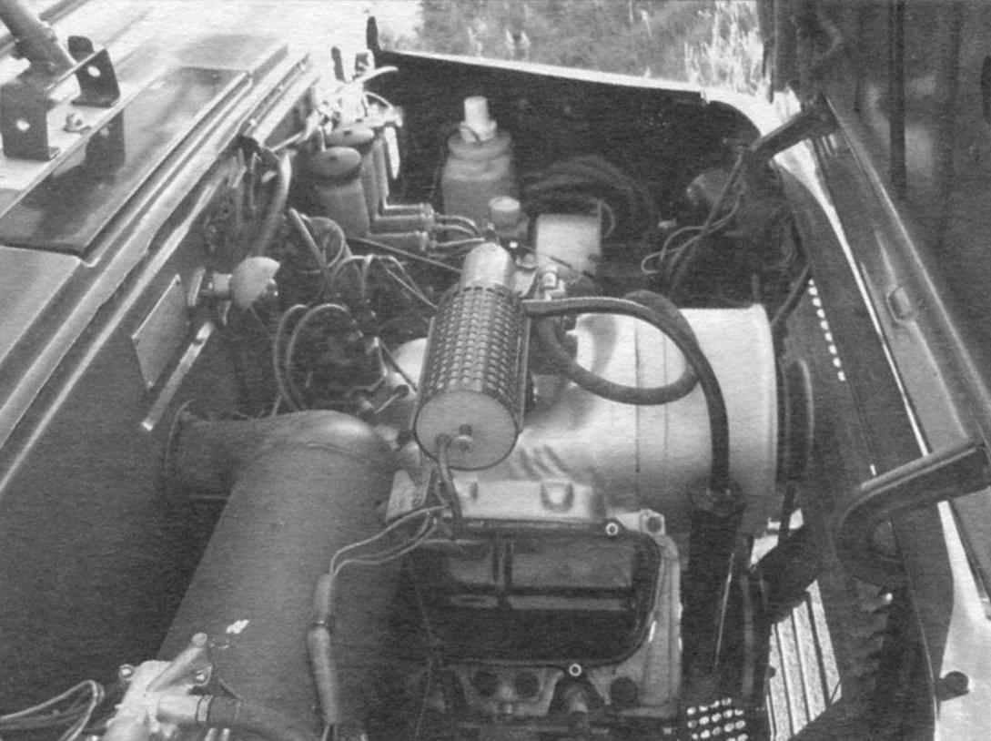 Подкапотное пространство ЛуАЗ-969М