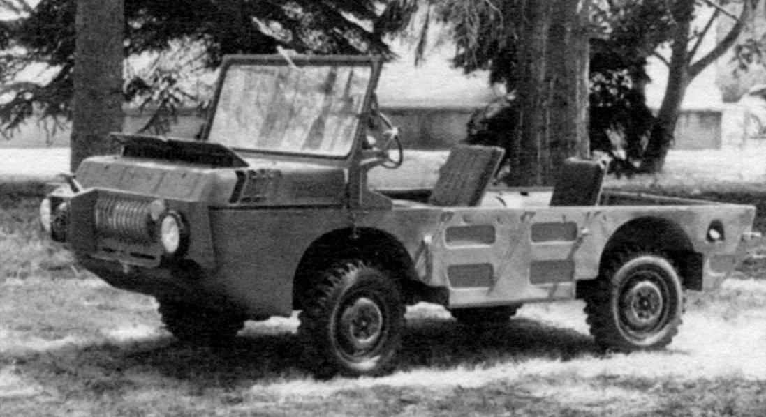 The army four-wheel drive amphibious vehicle LUAZ-967 TPK-direct, the symbolic forefather of the civil mini-jeep LUAZ-969