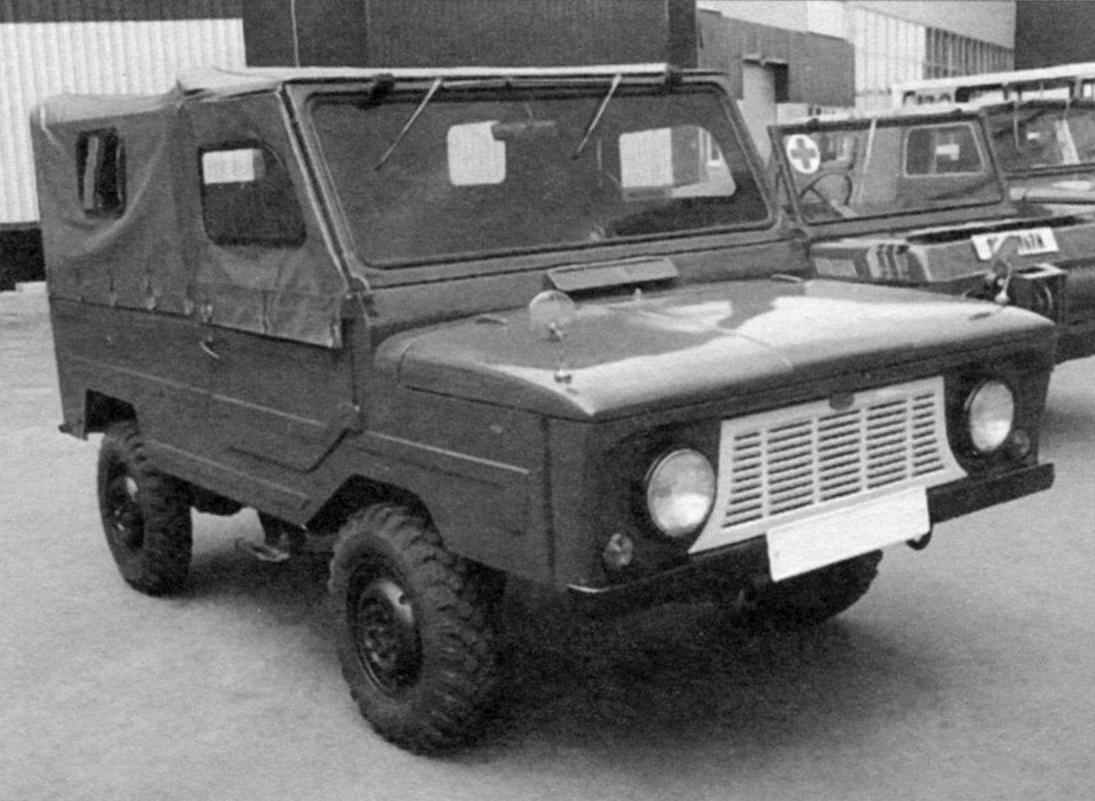 SUV LUAZ-969А produced the Lutsk automobile plant from 1975 to 1979. Prior to that, from 1967, produced front-wheel drive version of this car — LUAZ-969В