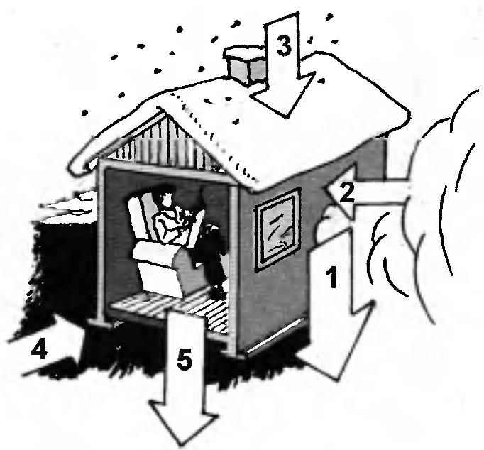 Рис. 2. Нагрузки, действующие на дом