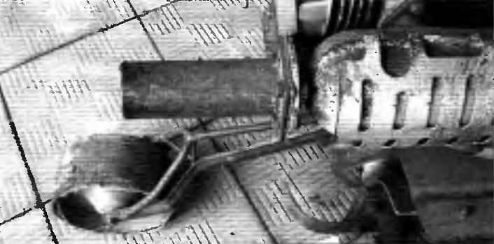 Насадка на штатный глушитель