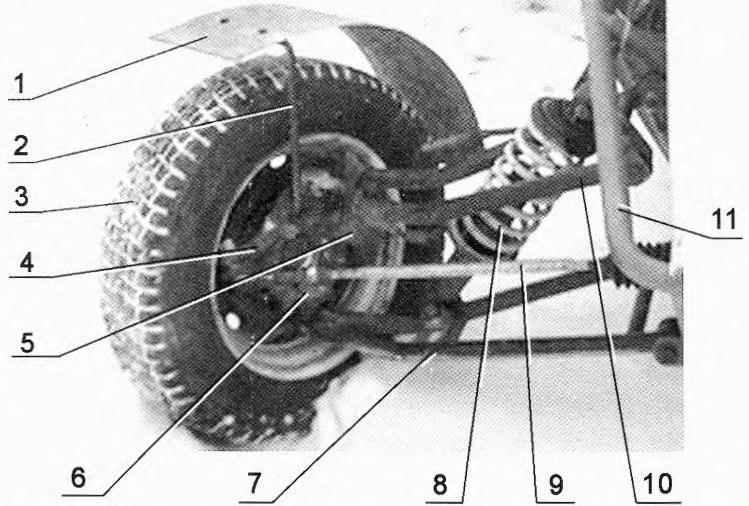 Подвеска переднего управляемого колеса