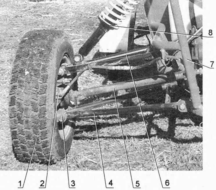 Подвеска заднего ведущего колеса