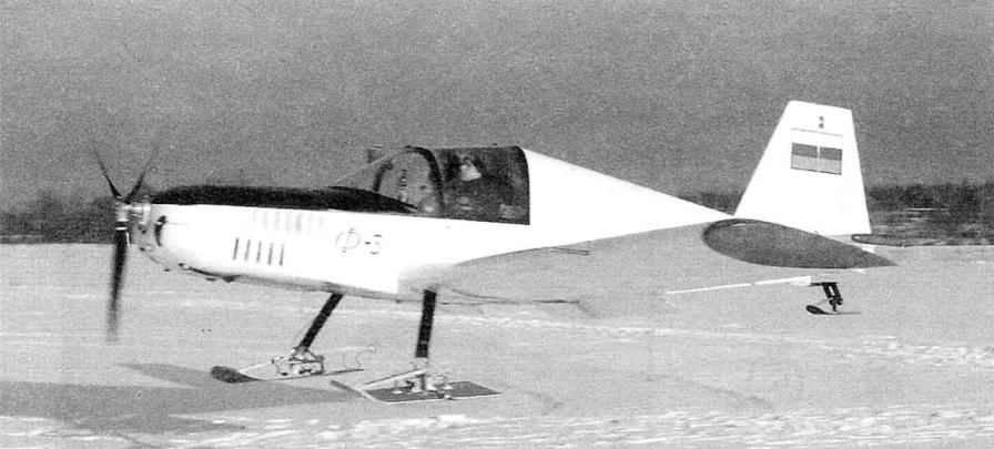 Самолёт Ф-3 на лыжном шасси