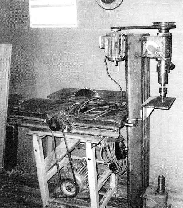 Универсальный деревообрабатывающий станок в варианте вертикальносверлильного станка