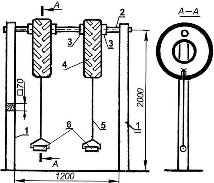 Рис. 4. Универсальный снаряд для силовых упражнений