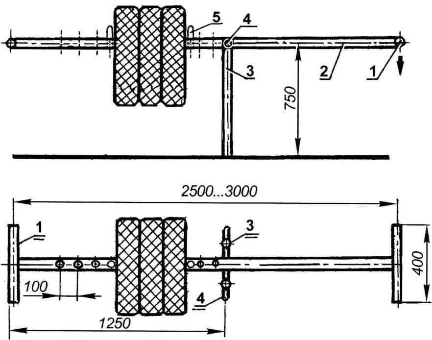 Рис. 5. Снаряд-противовес «Тяни-толкай»