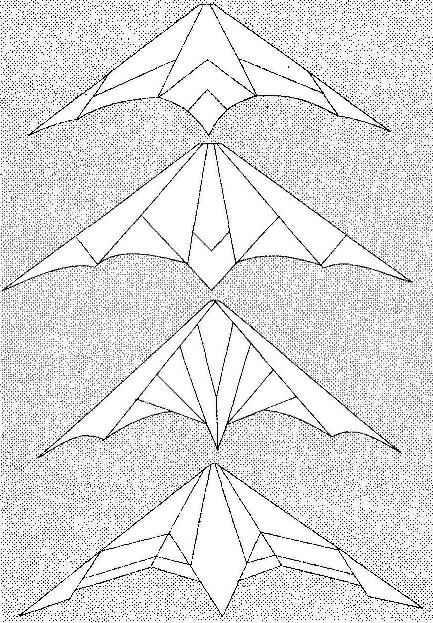 Варианты кроя паруса (несущей поверхности) пилотажного змея