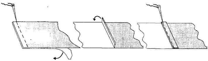 Схема стыковки полотнищ паруса на швейной машине