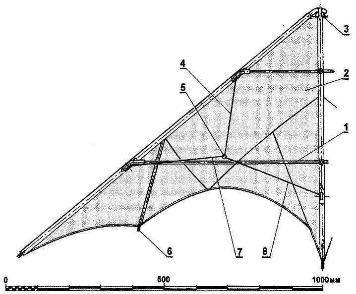 Пилотажный змей-дельтаплан
