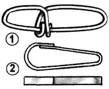 Carabiners used in the system of toe-hooks snake