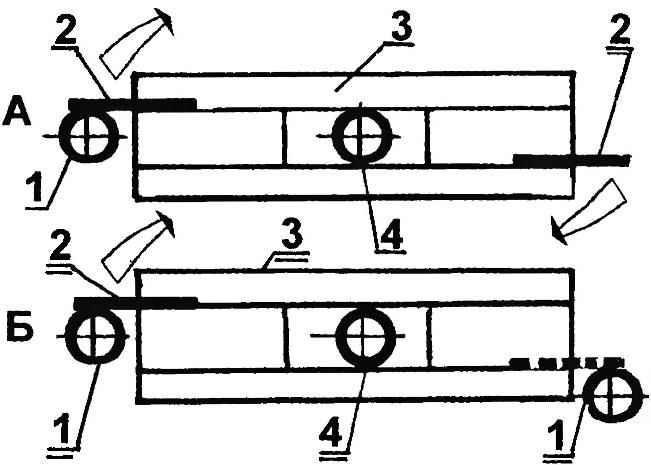 Варианты установки стопорных деталей поворотного сиденья