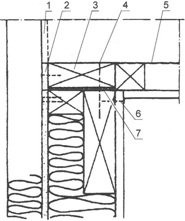 Рис. 7. Соединение угловых панелей стены. Такое же решение используют в обычном каркасе, собираемом на строительной площадке
