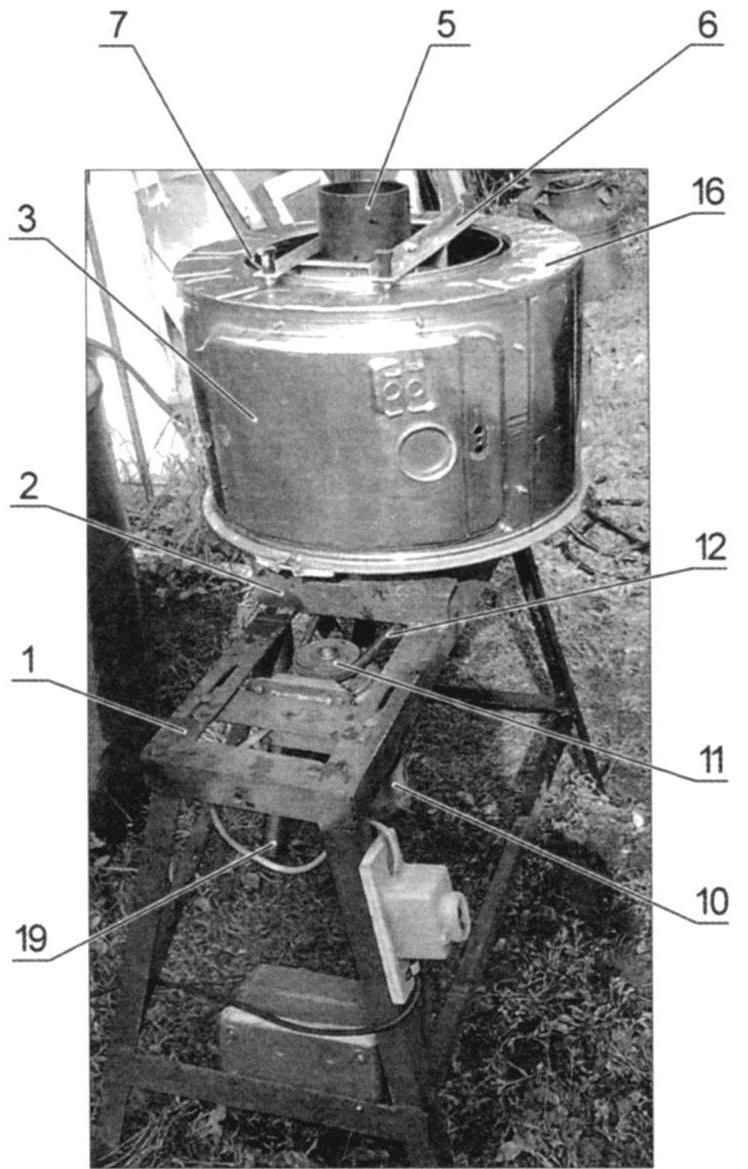 Станок-соковыжималка (позиции идентичны схеме)