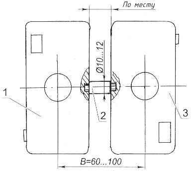 Рис. 2. Фиксирование фотоаппаратов при помощи стержня для съёмки вертикально расположенными кадрами