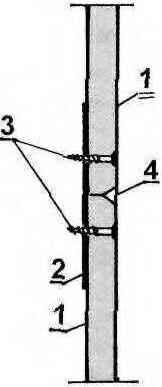 Рис. 6. Усиление стыков листов гипсокартона
