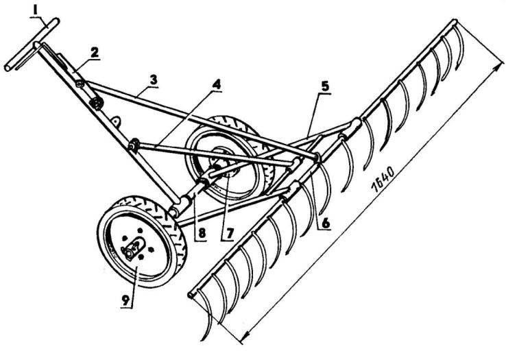 Wheel rakes