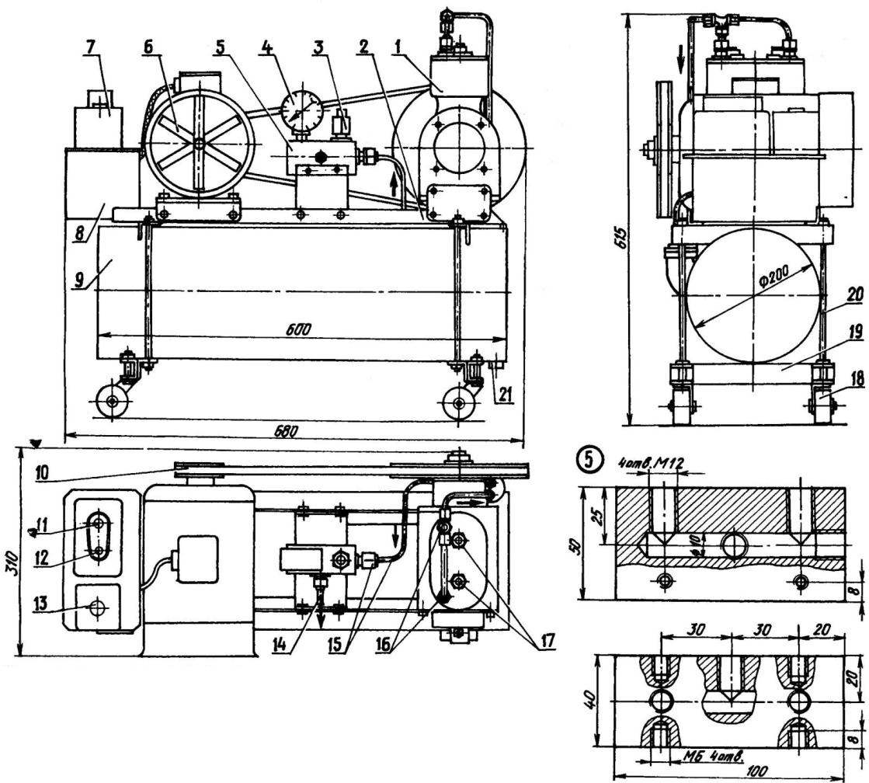 Компрессорная установка (общий вид)