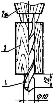 Ограничительная втулка для сверления гнезд под резьбовые втулки